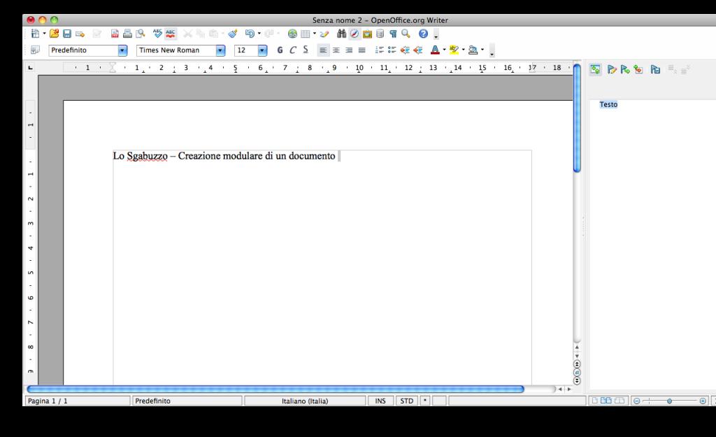OpenOffice Writer creazione file